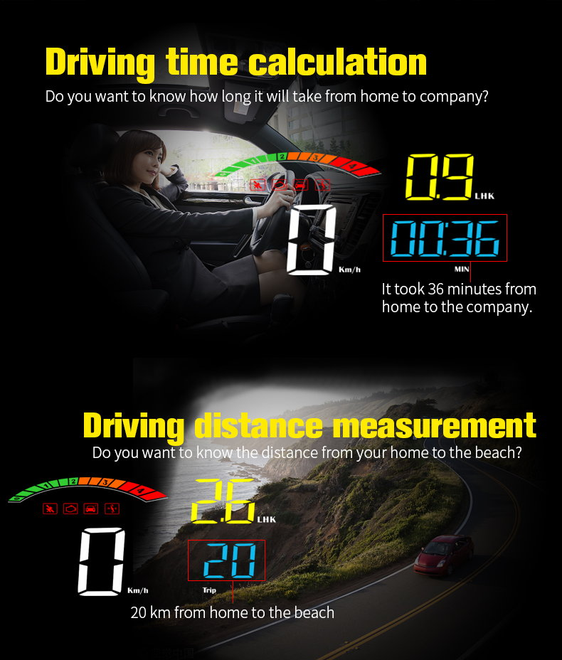 best car hud head up display