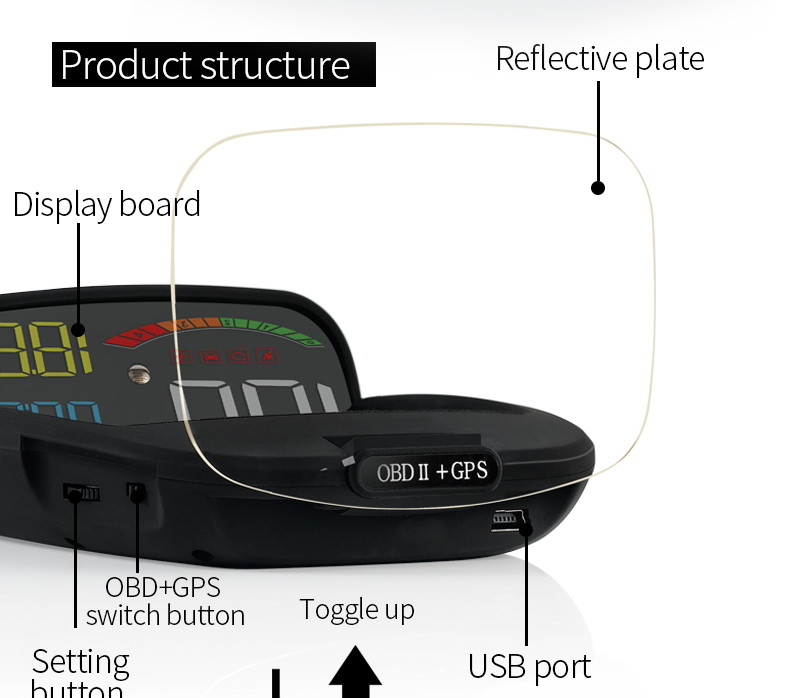 c800 car hud head up display sale