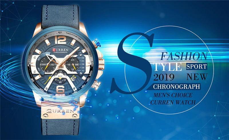 curren 8329 sport wrist watch