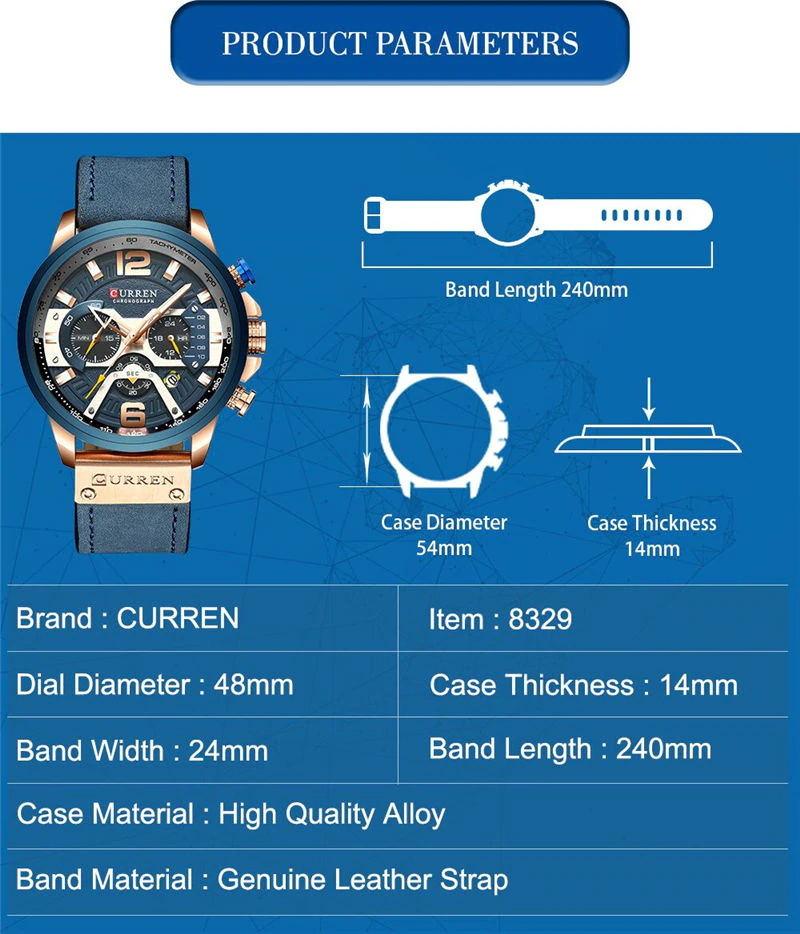 curren 8329 sport wrist watch for sale