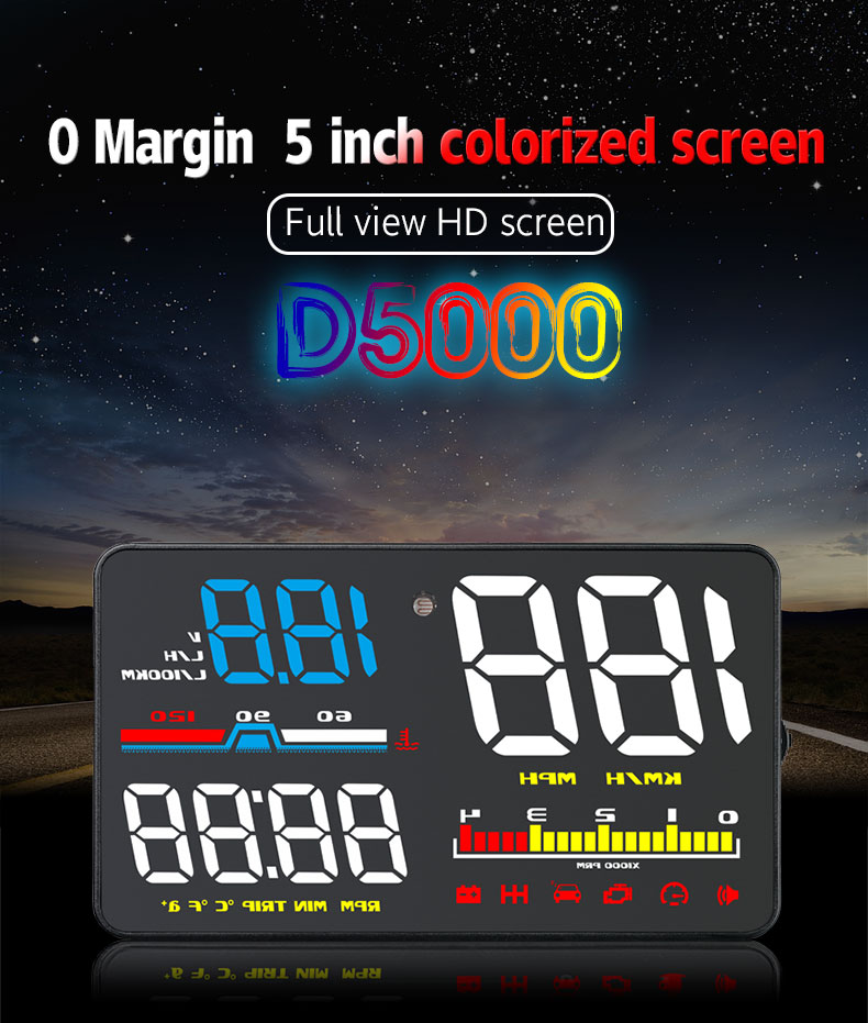 d5000 car hud head up display
