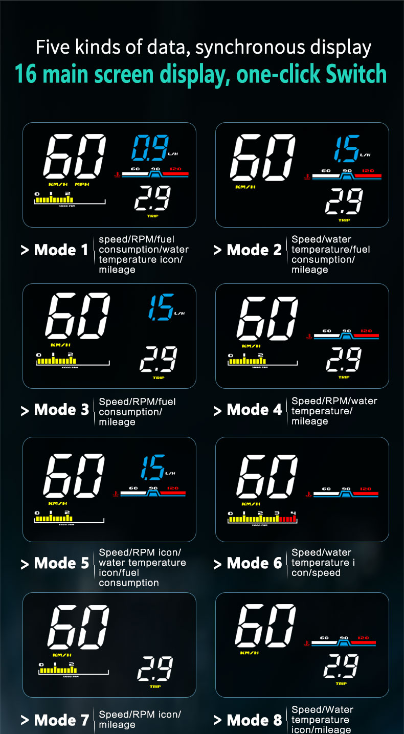 2019 car hud head up display