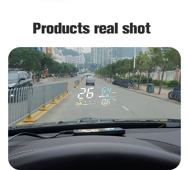 new d5000 car hud head up display