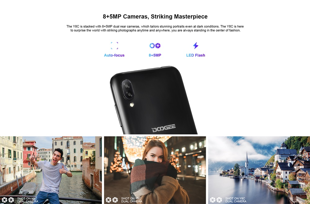 new doogee y8c smartphone