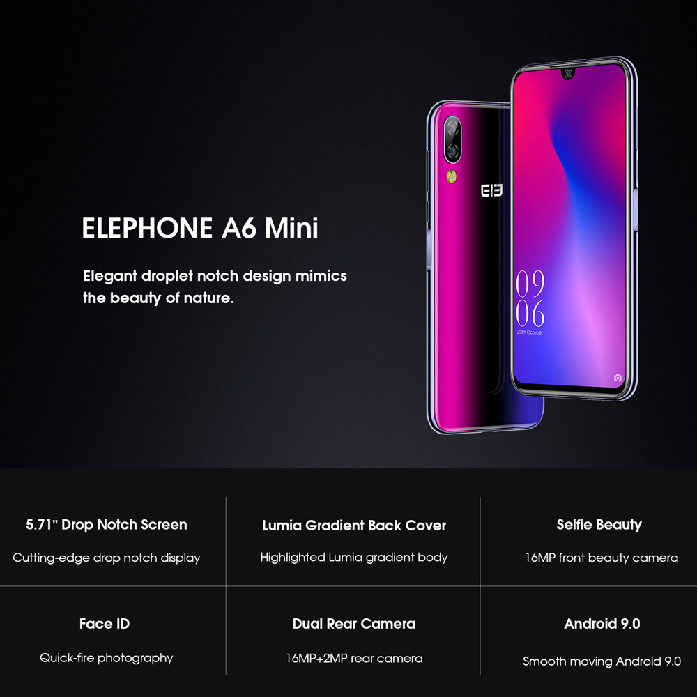 elephone a6 mini smartphone 4gb/64gb