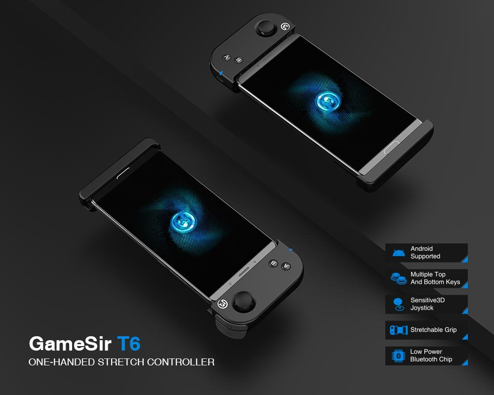 gamesir t6 one-handed wireless stretch controller