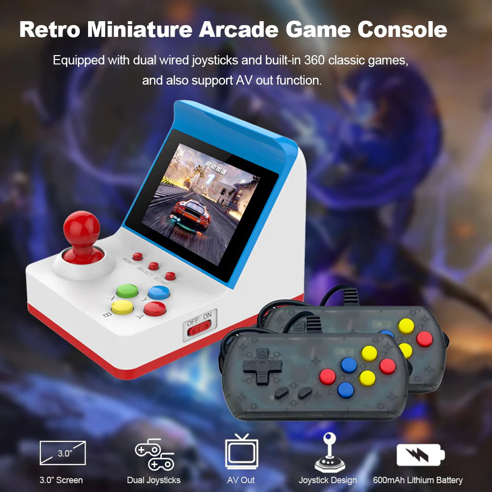 handheld arcade video game console