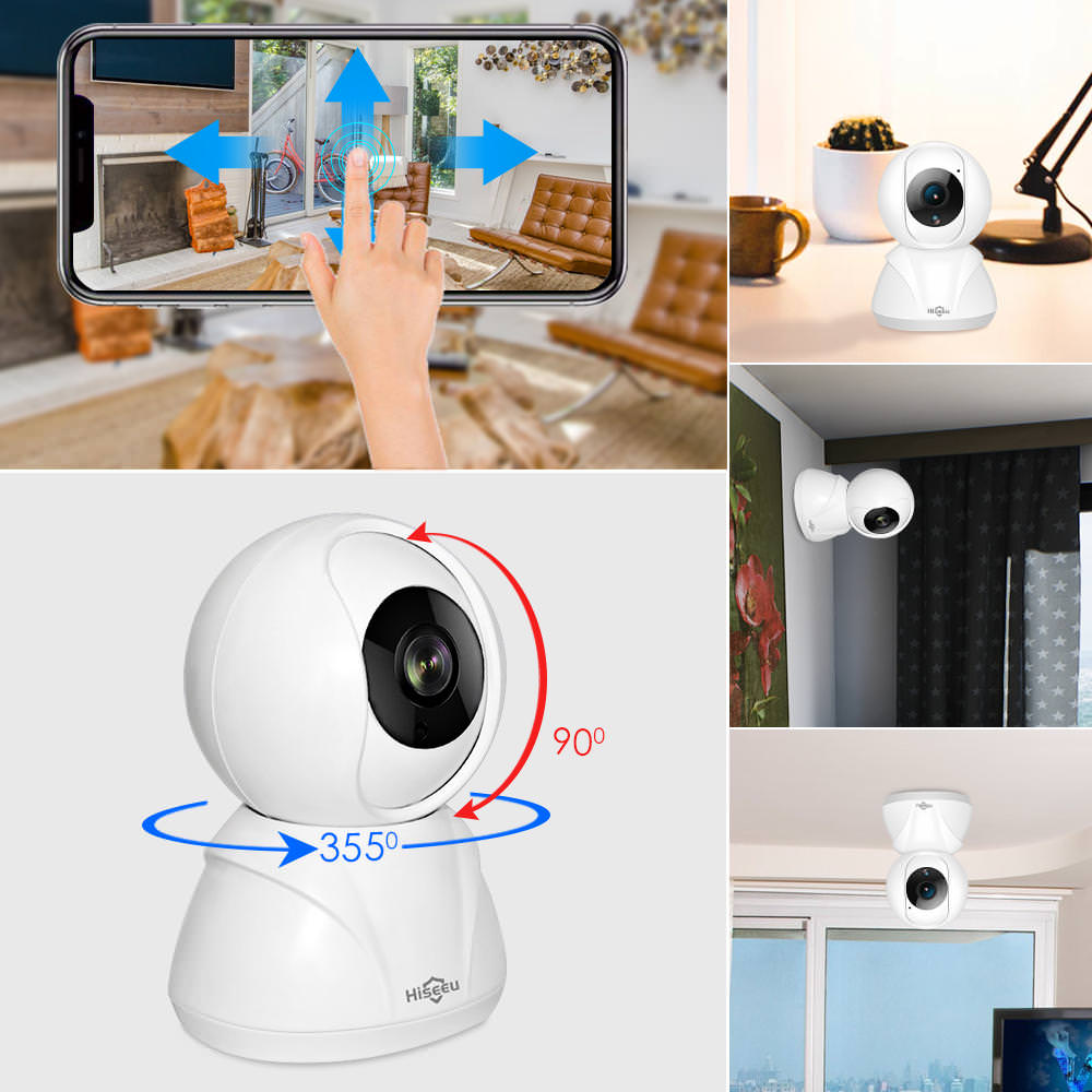 new hiseeu fh3a wifi home security ip camera