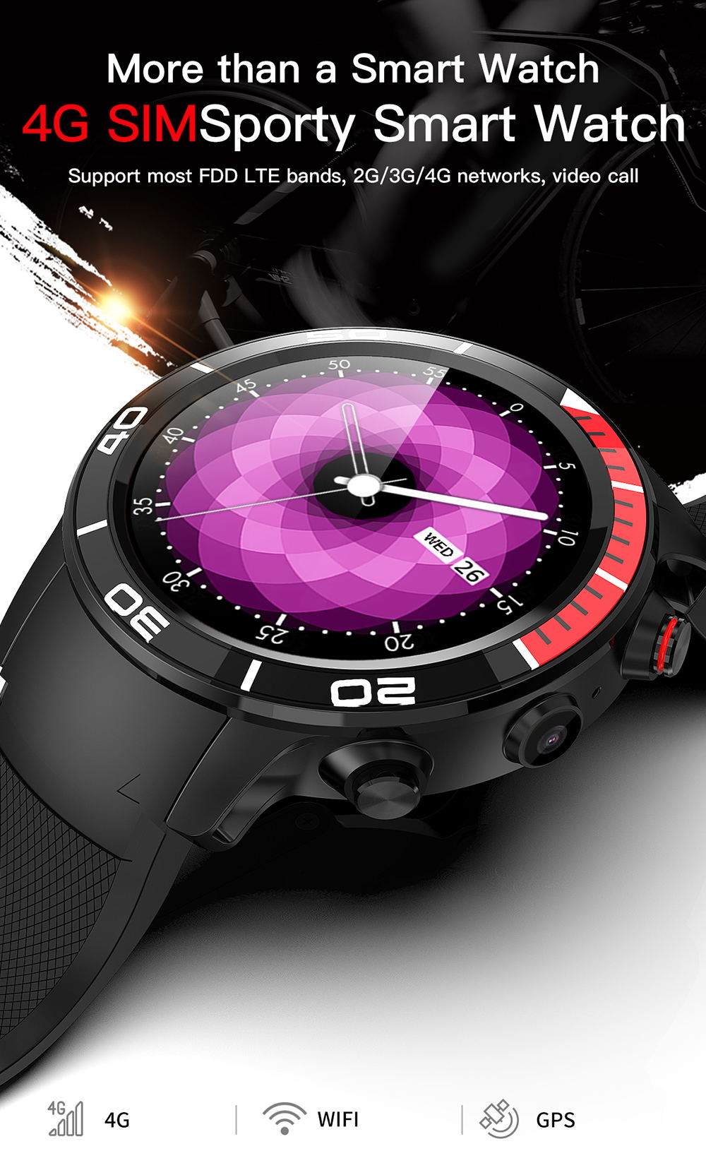 Microwear H8 4G reloj inteligente - un dispositivo necesario para exteriores Microwear-H8-4G-Smartwatch-1