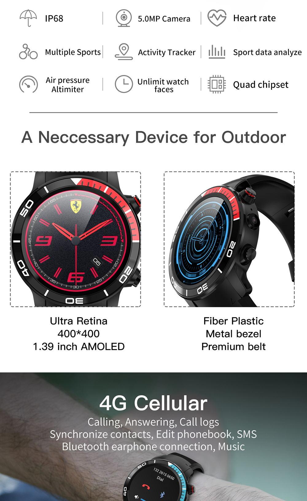 buy microwear h8 4g smartwatch