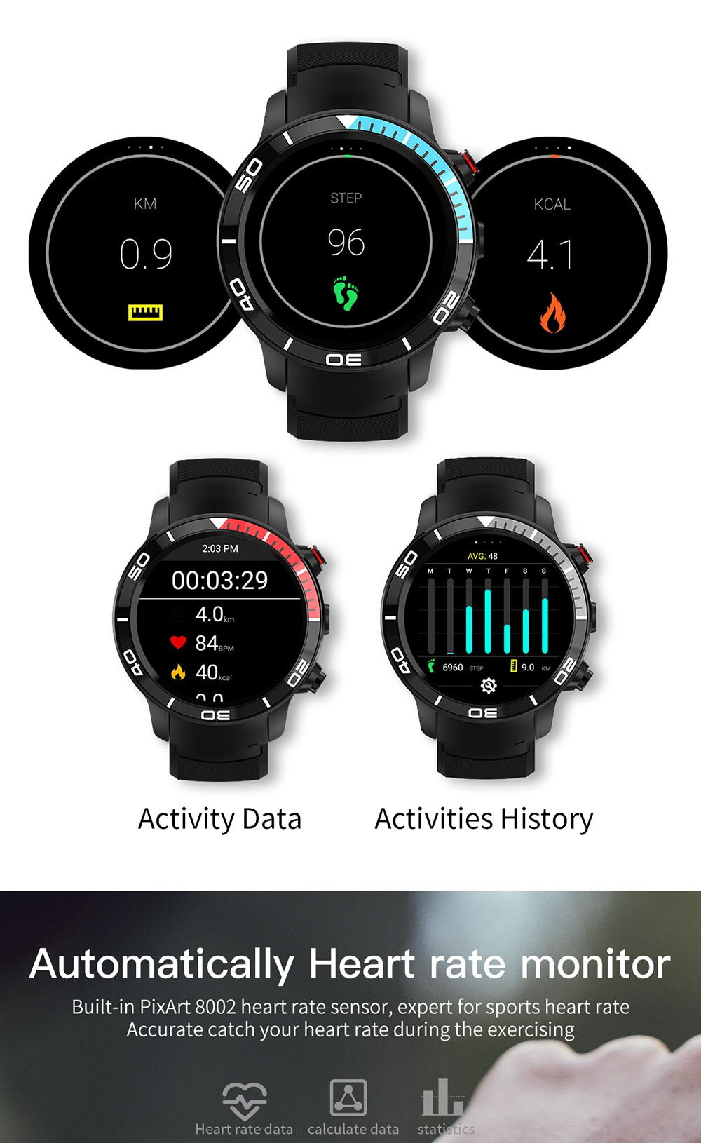 microwear h8 smartwatch for sale