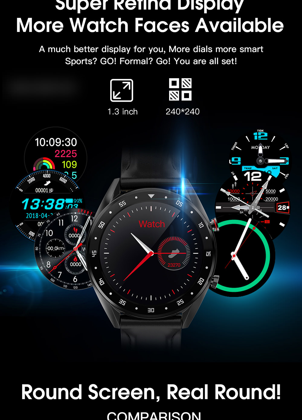 new microwear l7 bluetooth smartwatch