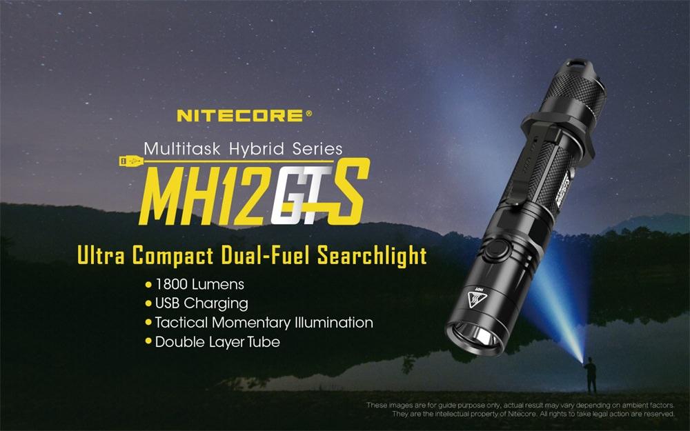 nitecore mh12gts flashlight