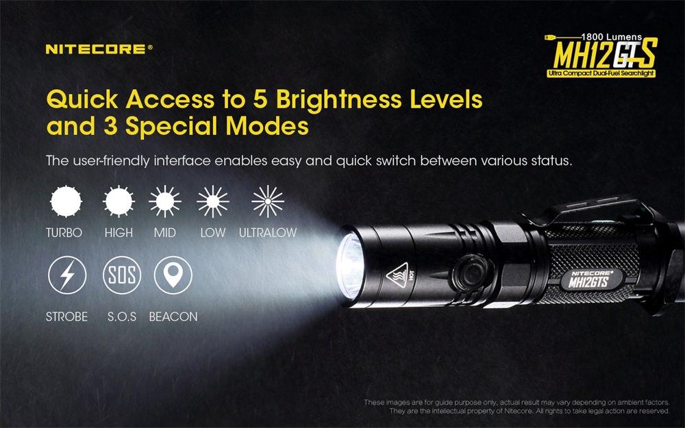 buy nitecore mh12gts portable flashlight
