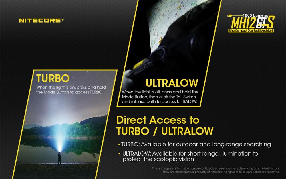 nitecore mh12gts led flashlight