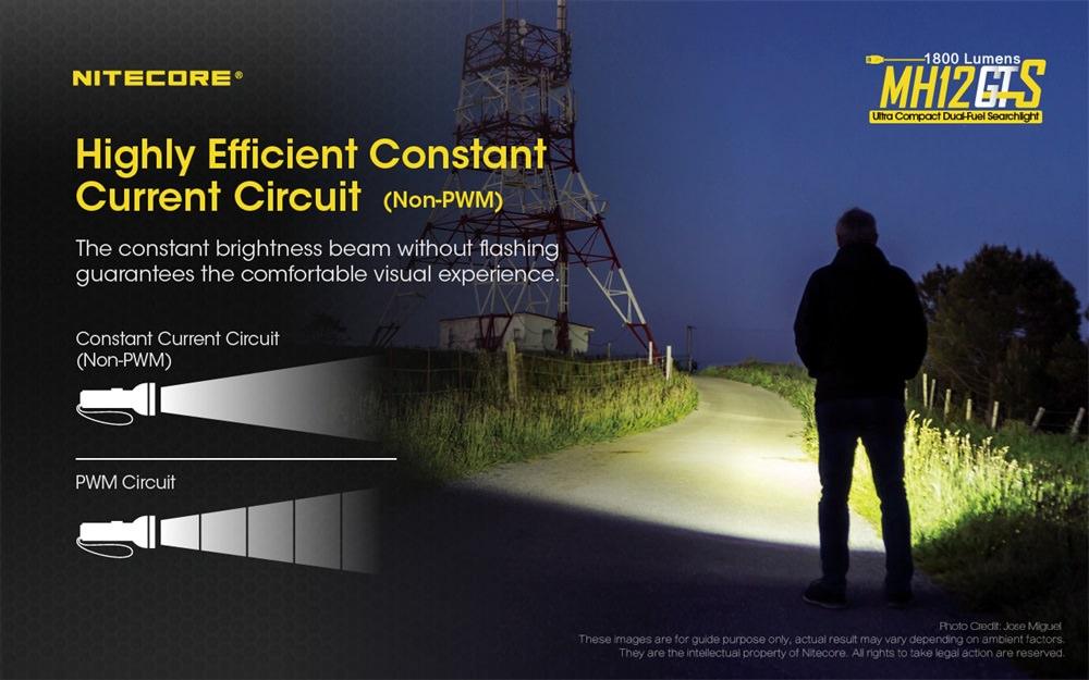buy nitecore mh12gts rechargable flashlight