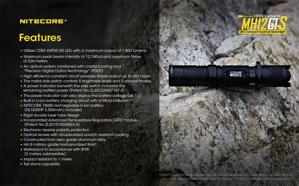 buy nitecore mh12gts led flashlight