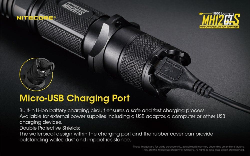nitecore mh12gts mini flashlight