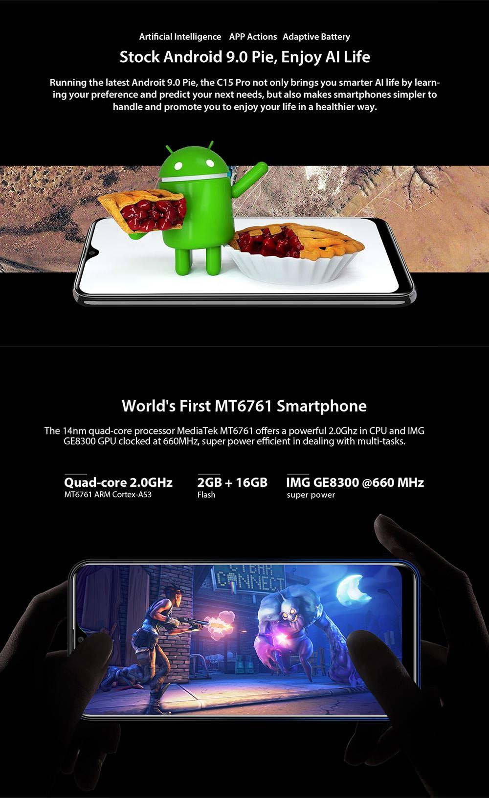 oukitel c15 pro 4g smartphone