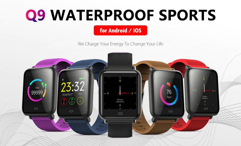 q9 waterproof sports smartwatch