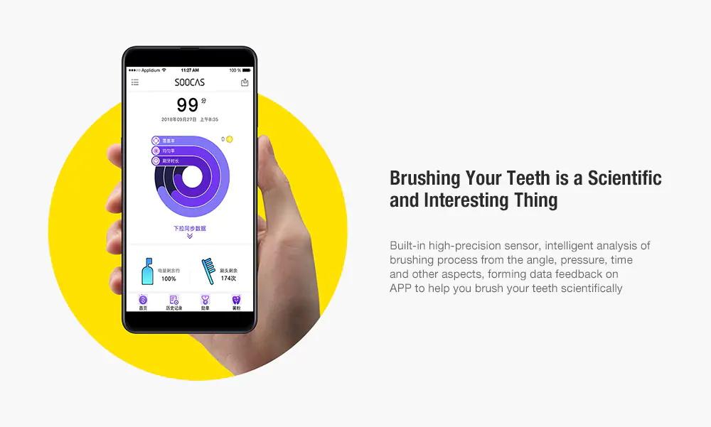 2019 soocas x5 electric ultrasonic toothbrush