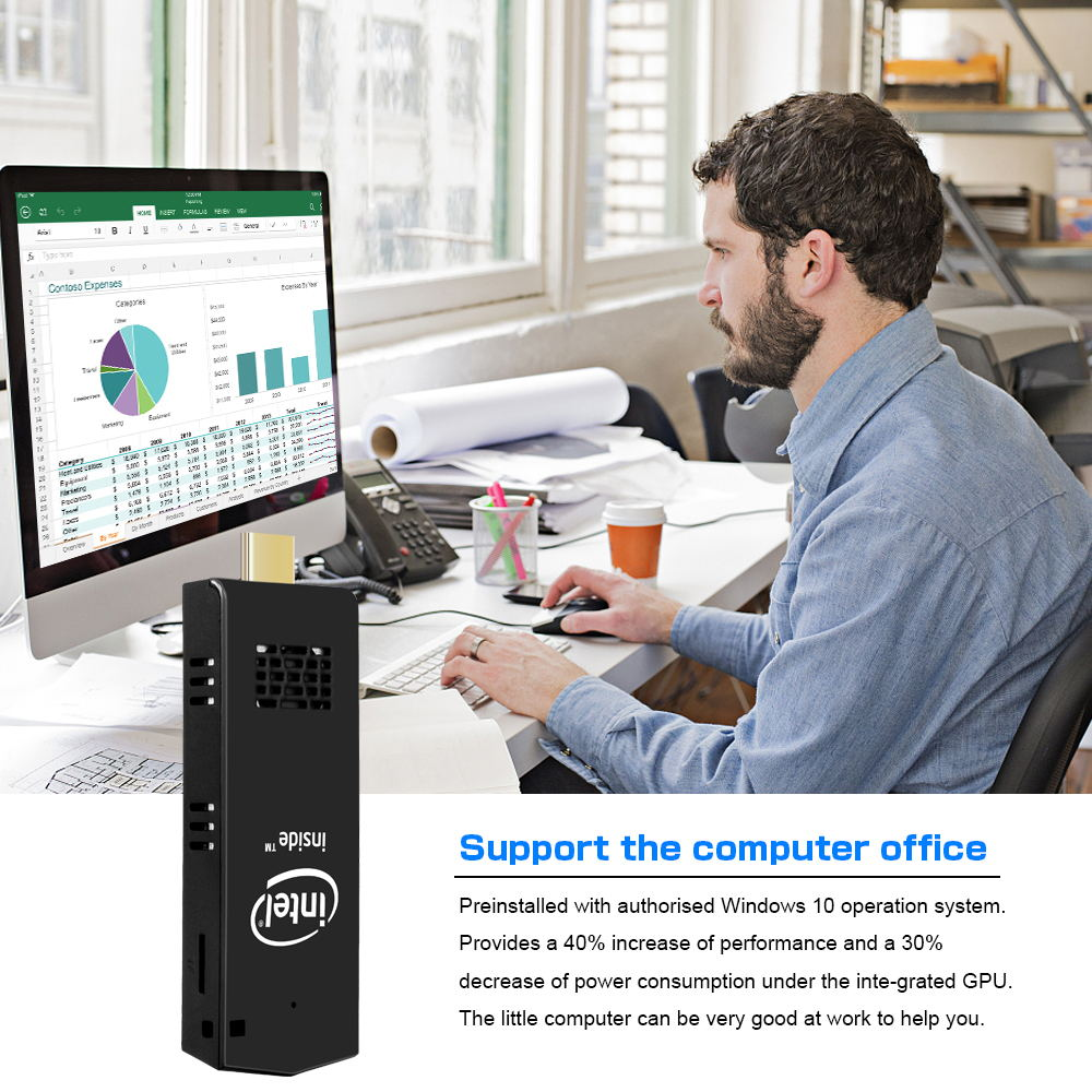 2019 t5 z8350 mini pc stick 64gb