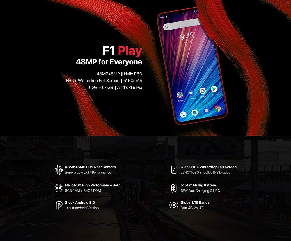 Umidigi F1 Play - 48MP + 8MP | Helio P60 | 5150mAh | Android 9.0 Pie UMIDIGI-F1-Play-Smartphone-1