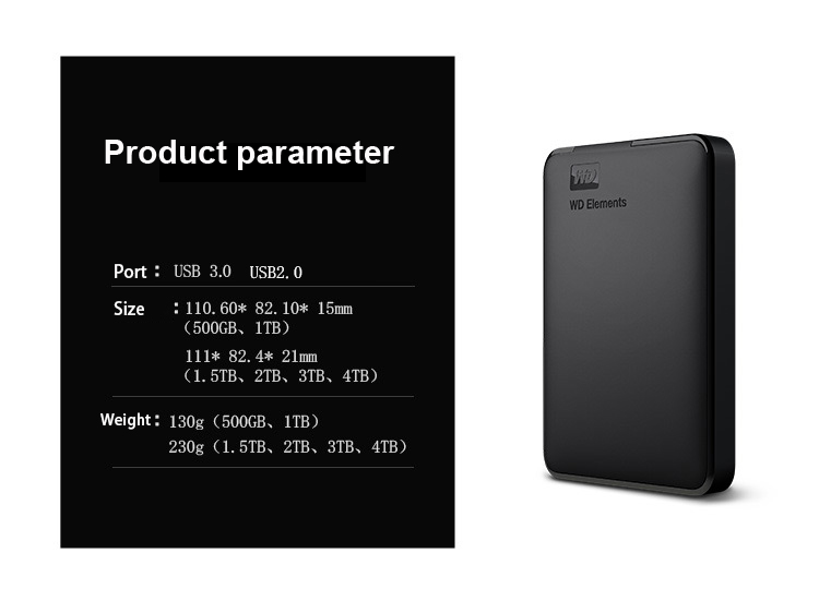 wd elements 2tb portable hard disk