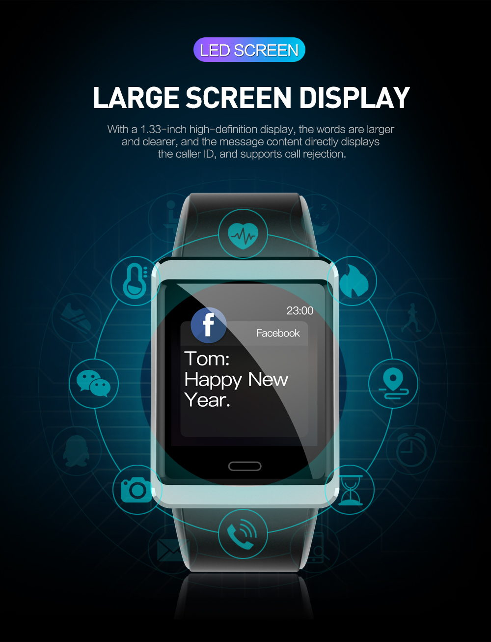 new y13 bluetooth smartwatch