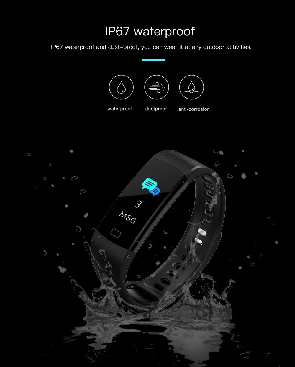 y5 waterproof smart wristband