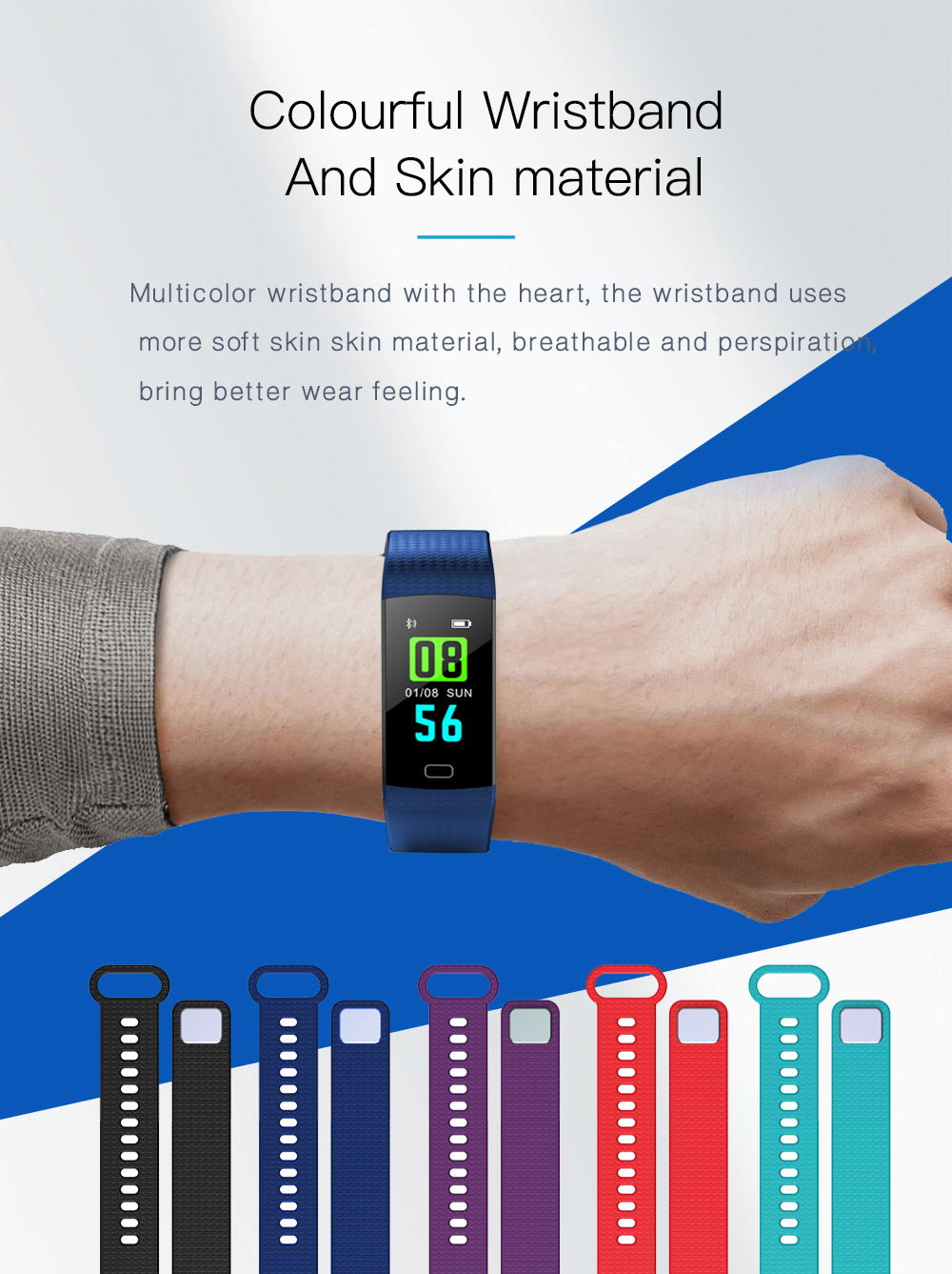 2019 y5 waterproof smart wristband