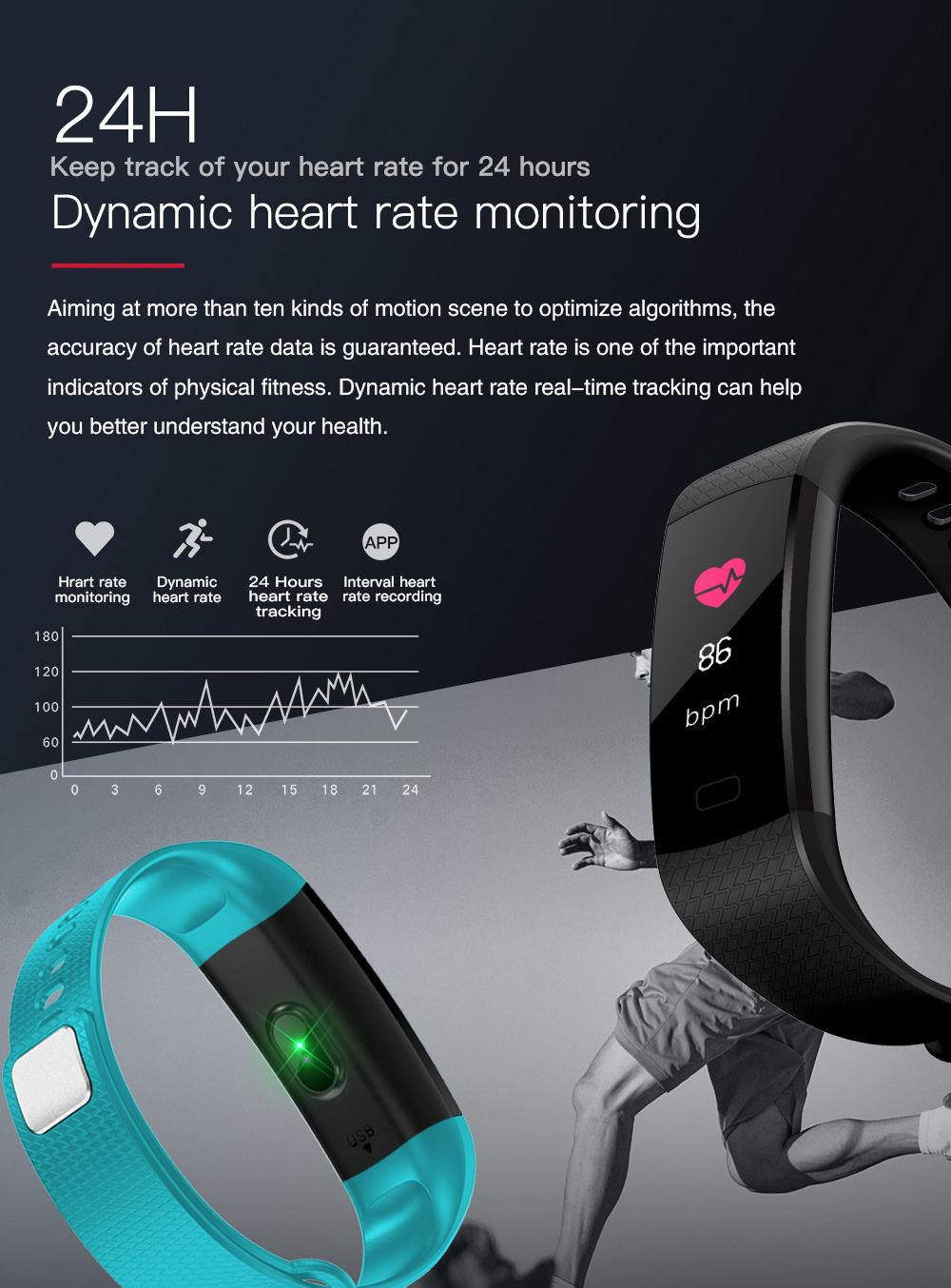 y5 smart bluetooth wristband for sale
