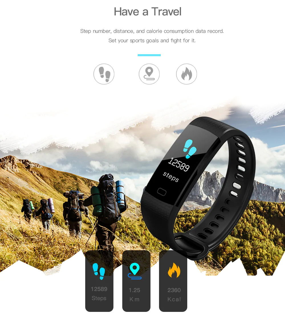 2019 y5 smart bluetooth wristband