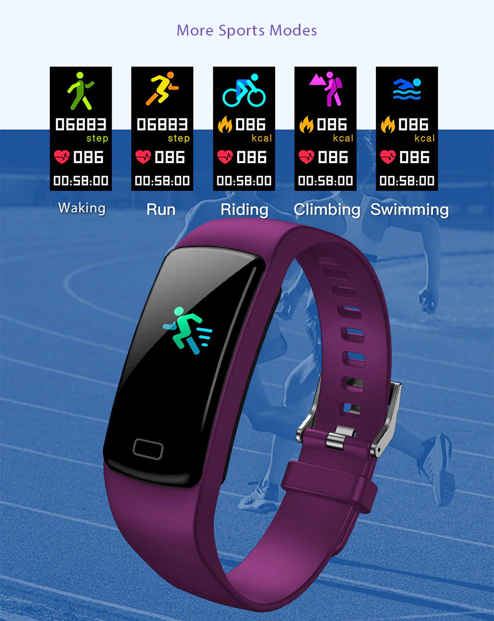 new y9 smart bluetooth wristband