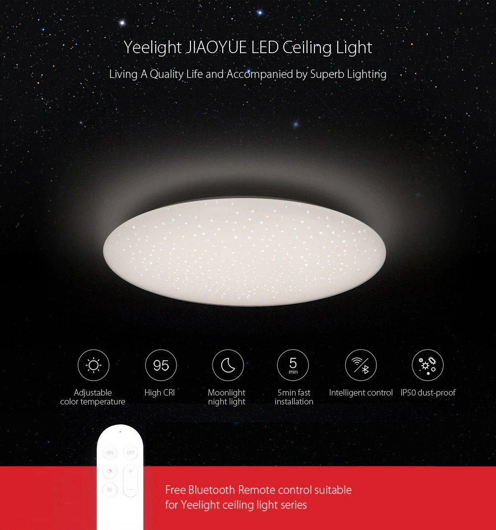 yeelight ylxd05yl led ceiling light