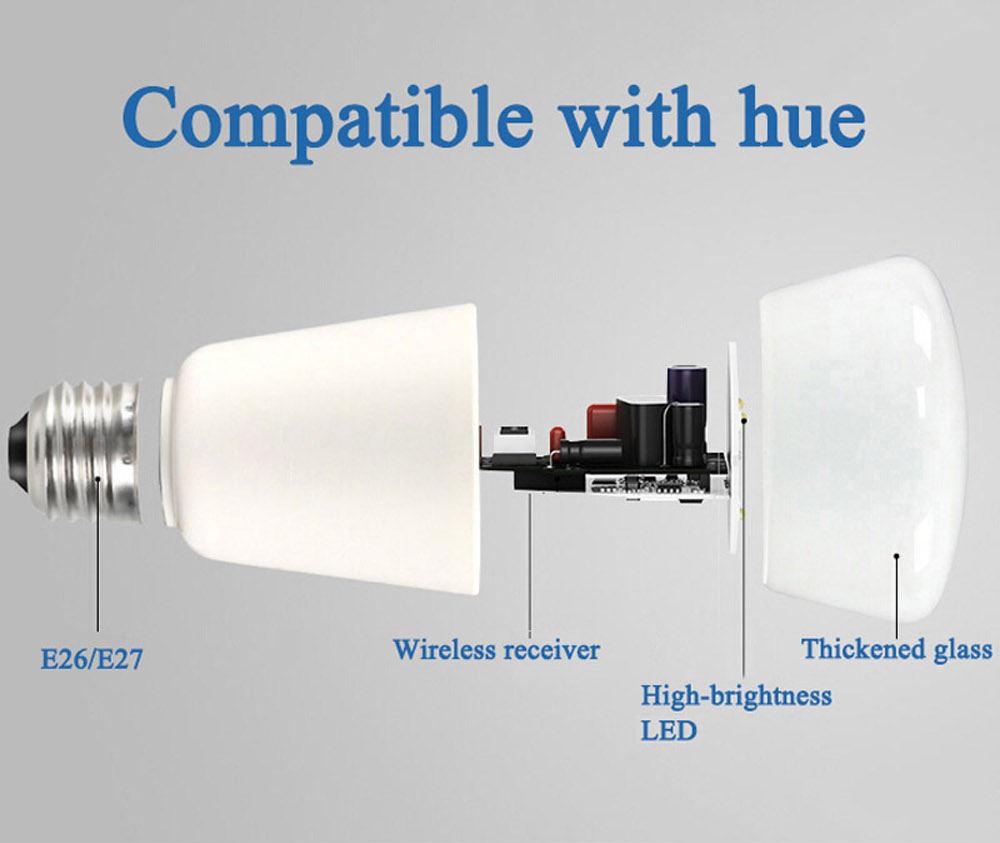 new jiawen e27/e26 9w 750lm rgbw smart bulb