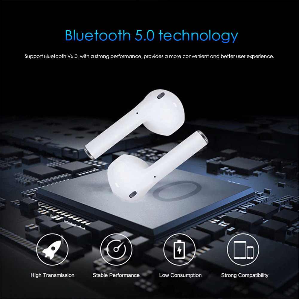 i12 tws bluetooth earphones