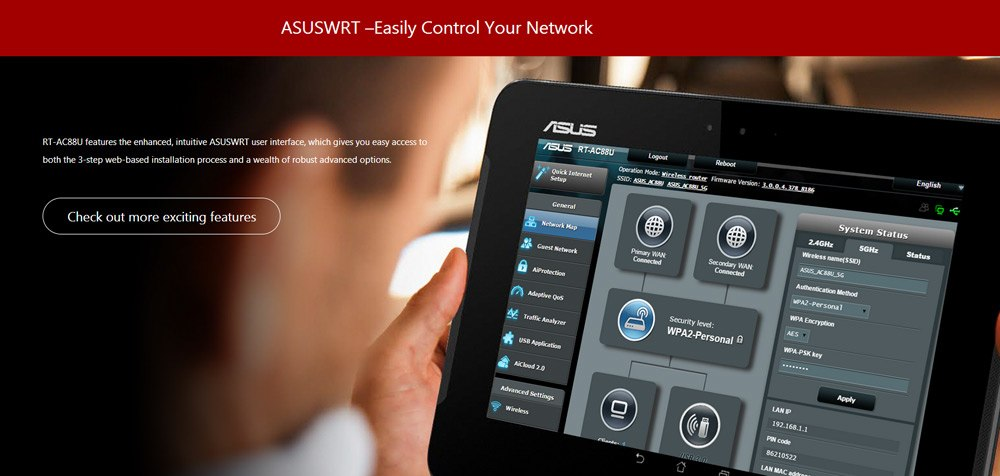 rt-ac88u router online
