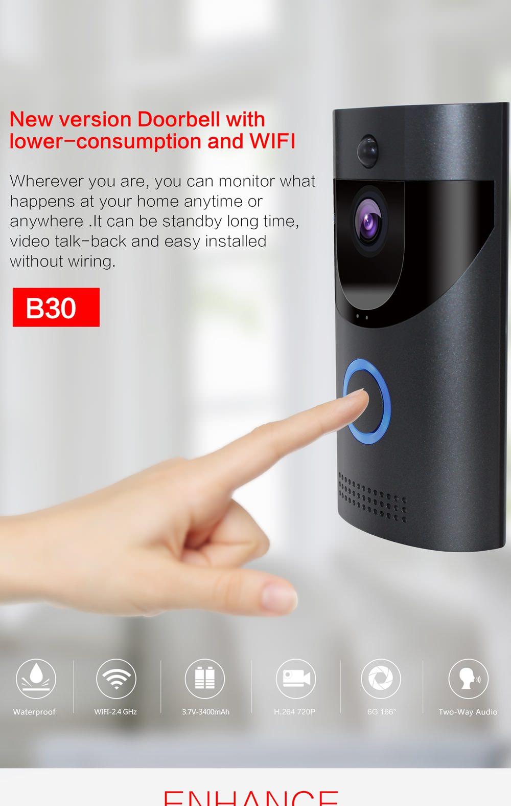 anytek b30 wifi video doorbell