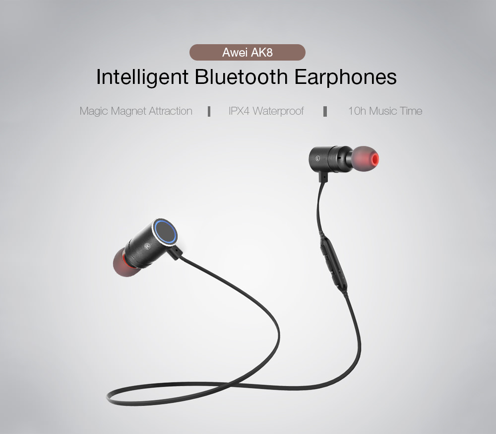 awei ak8 intelligent bluetooth earphones