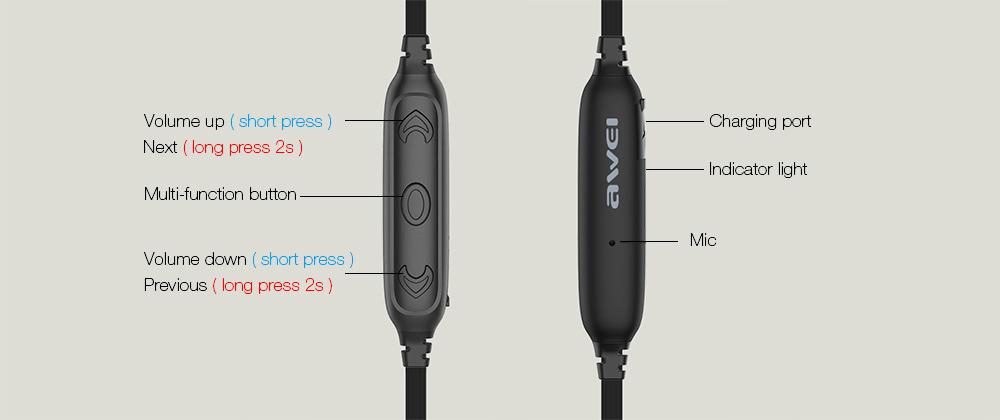 awei ak8 wireless sports earphones
