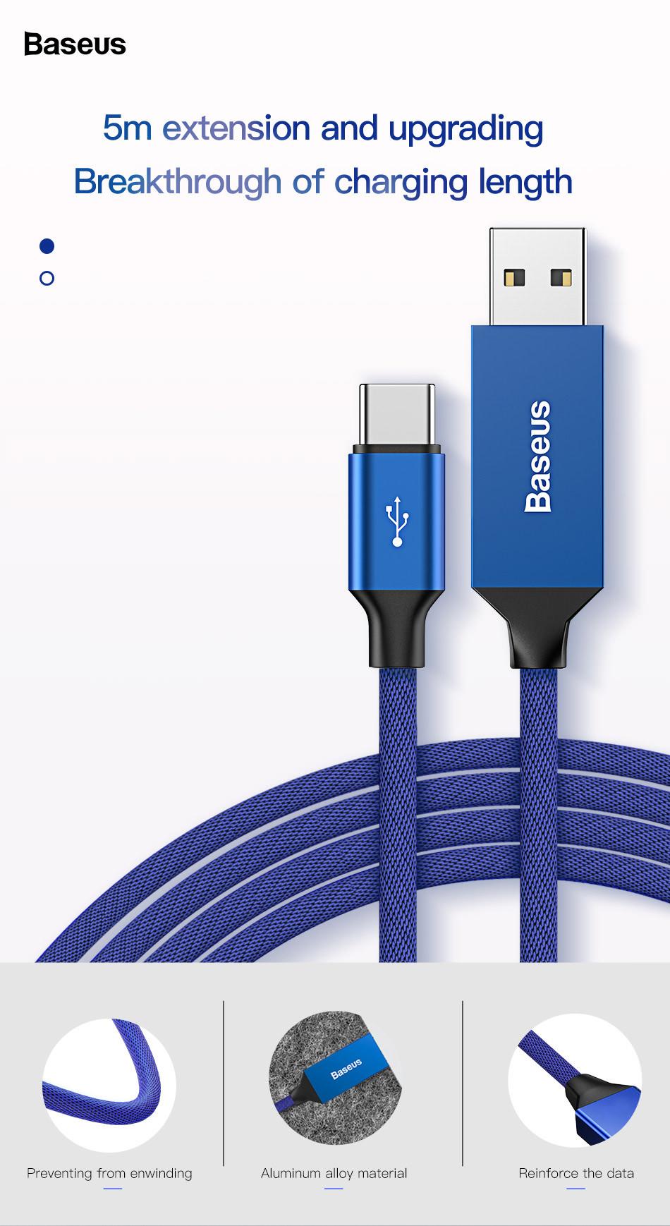 baseus 5m usb type c cable