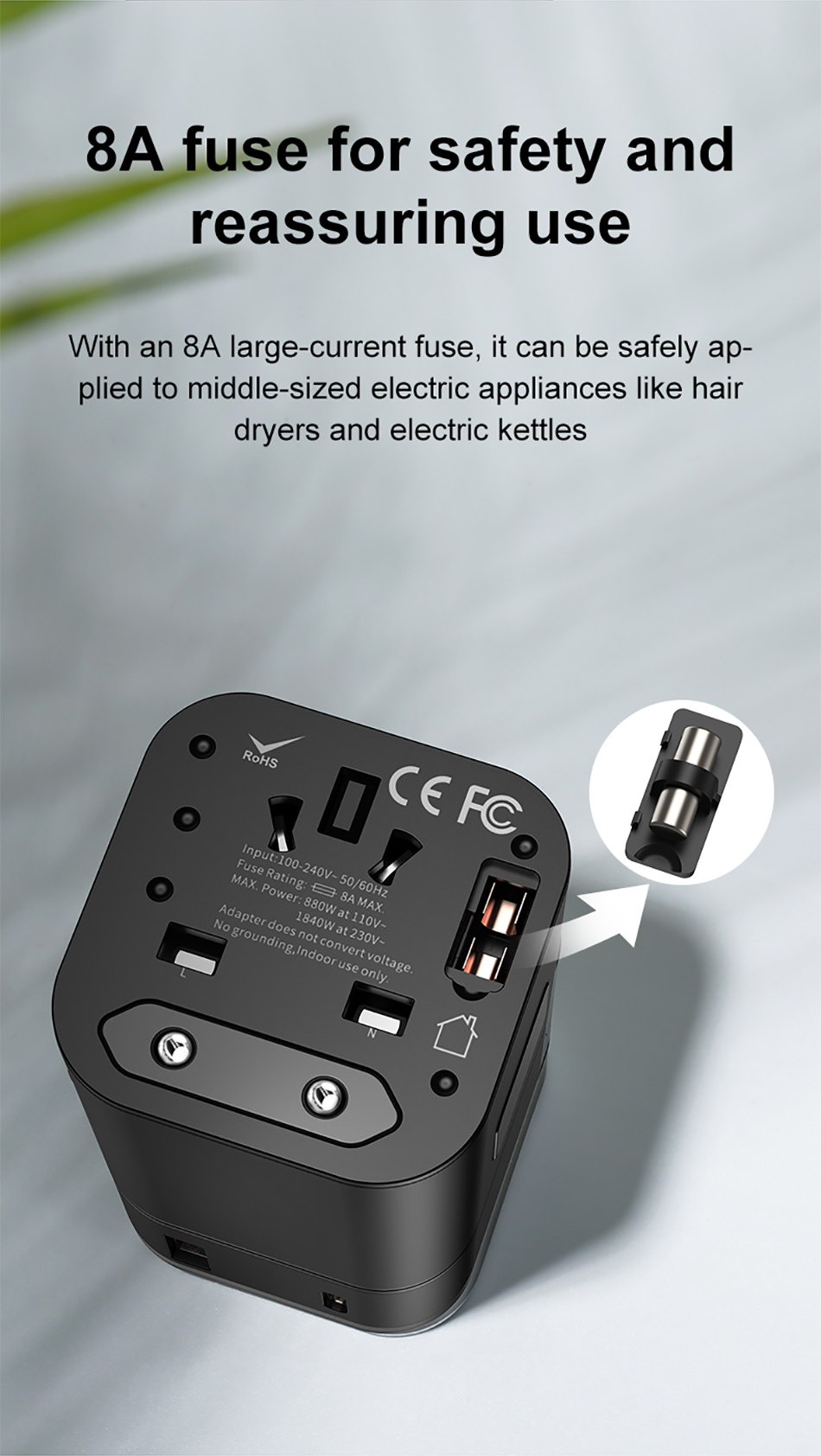 baseus 2-in-1 global conversion charger price