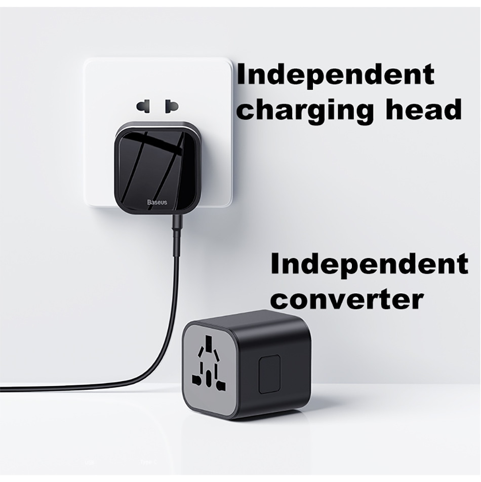 2019 baseus 2-in-1 global conversion charger