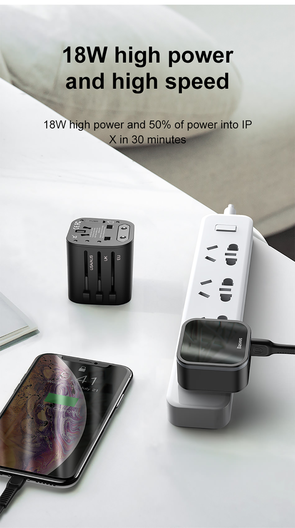 baseus 2-in-1 global conversion charger online