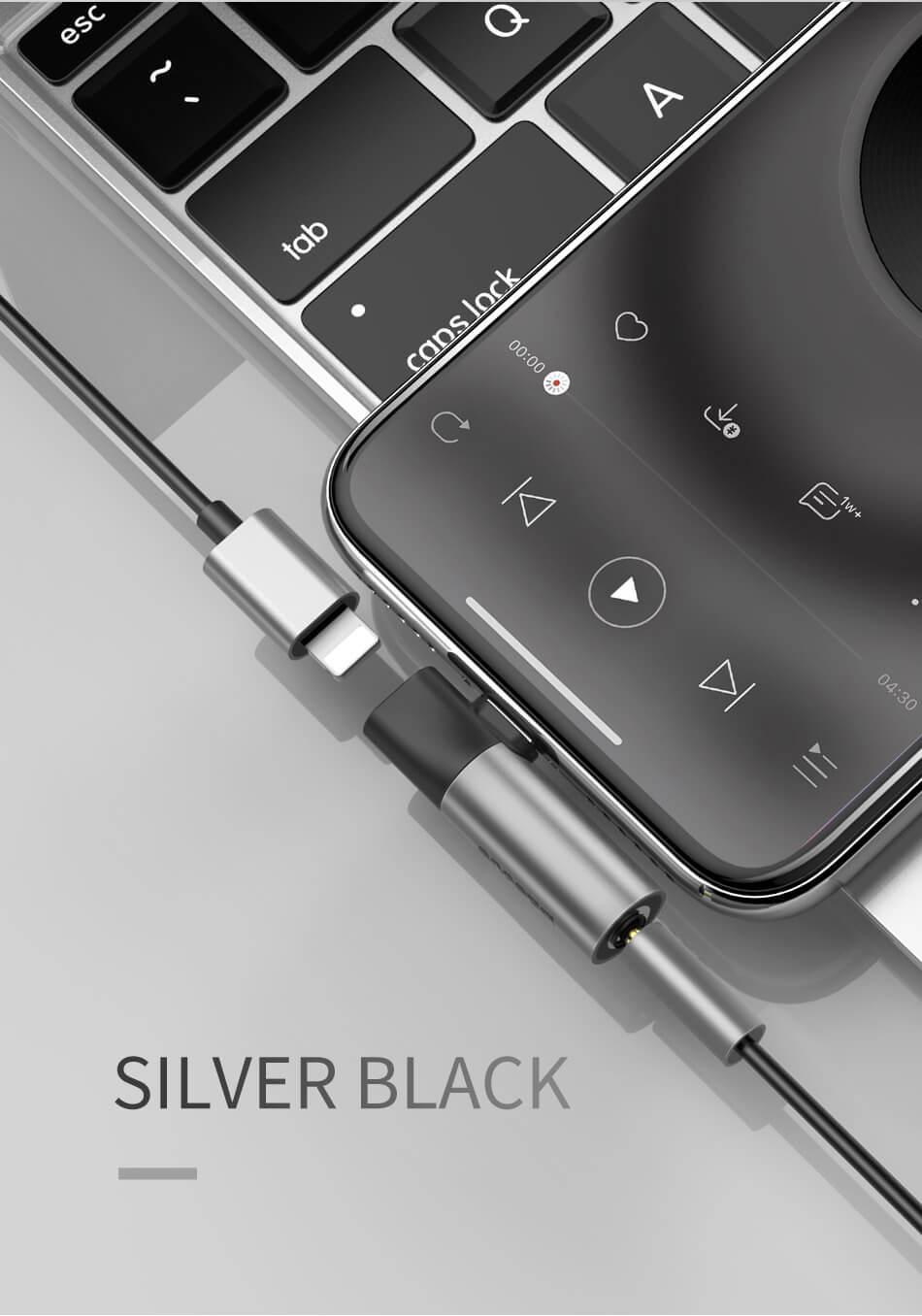 baseus l43 audio converter for iphone x