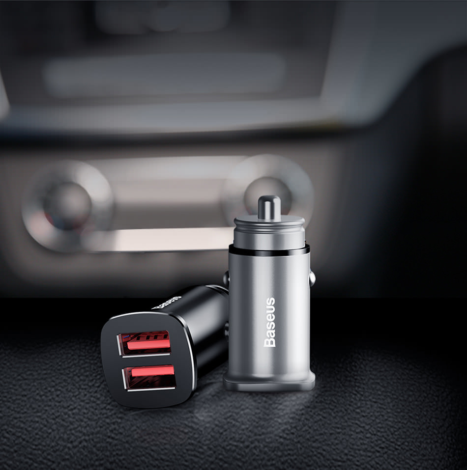 baseus car charger dual qc 30w online