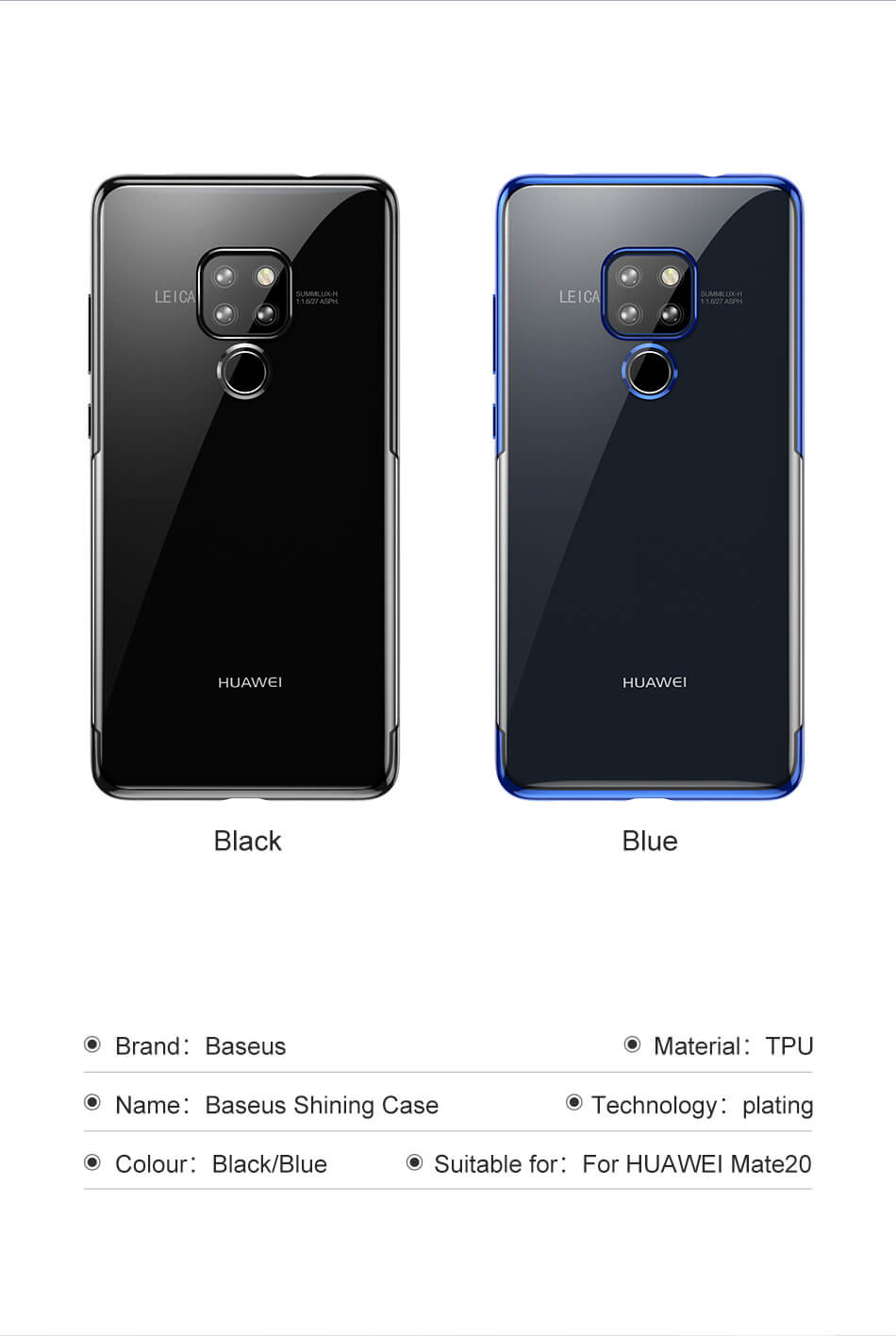 buy mate 20 back case