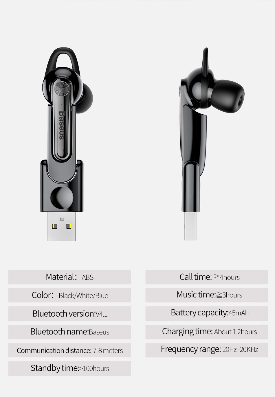 2018 baseus bluetooth earphone