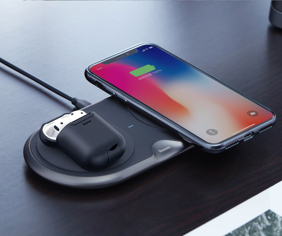 new baseus wireless charging case